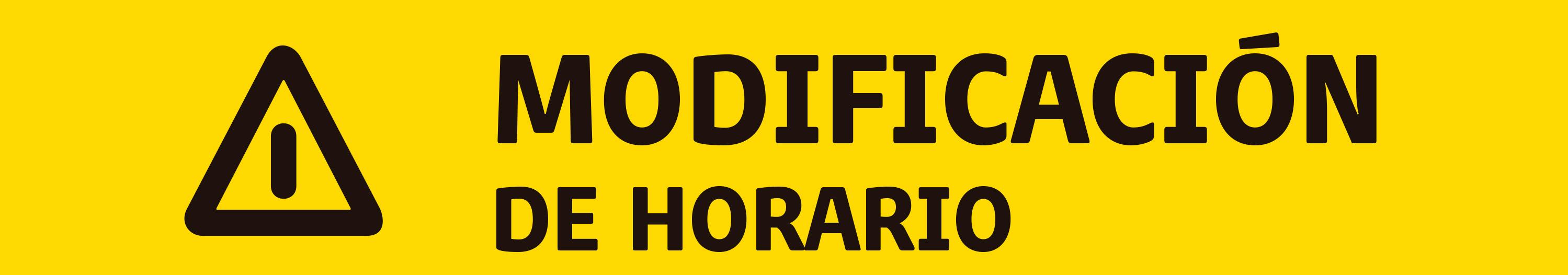 MODIFICACIÓN DE HORARIO F06 / F20