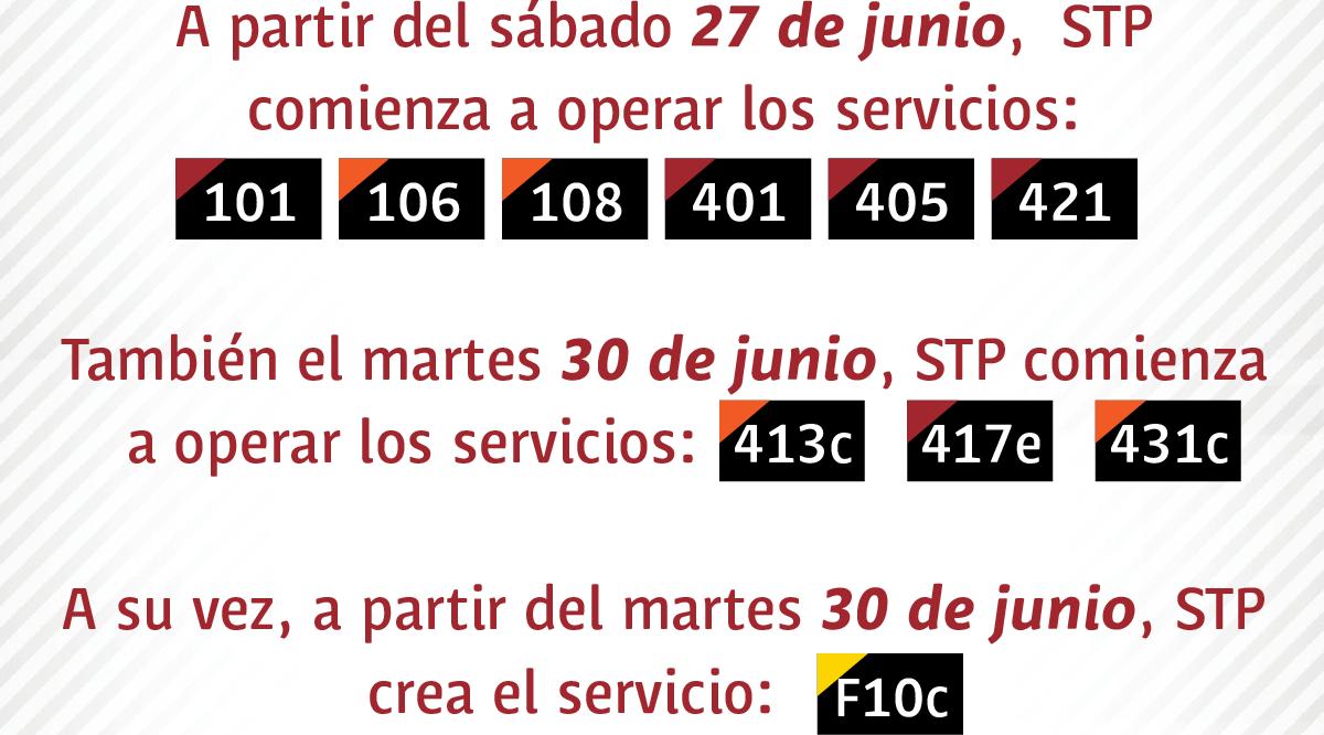 STP opera nuevos servicios